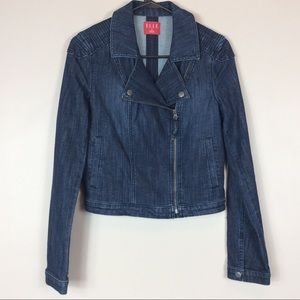 Elle Denim Moto Jacket Sz S